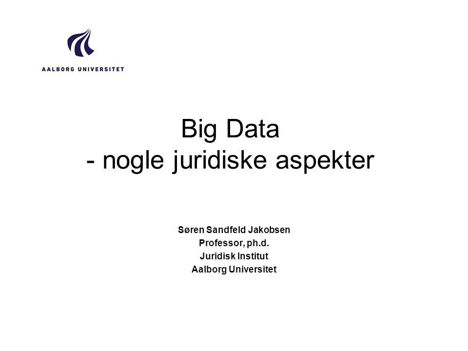 Big Data - nogle juridiske aspekter