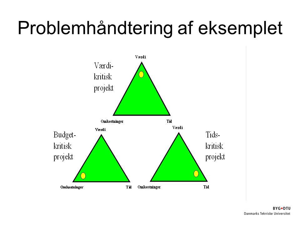 Problemhåndtering af eksemplet