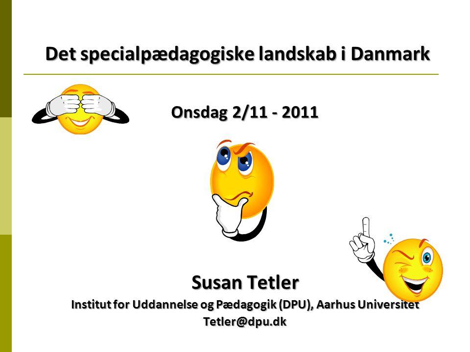 Det specialpædagogiske landskab i Danmark
