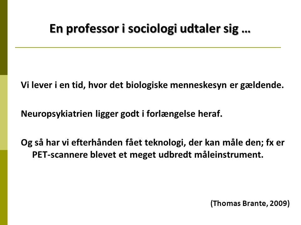 En professor i sociologi udtaler sig …