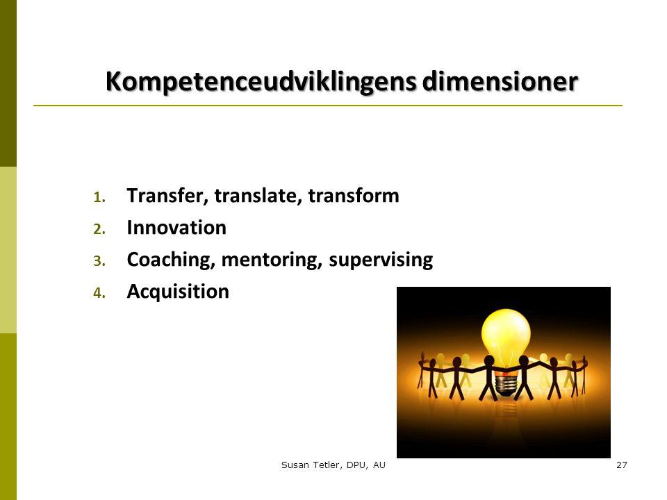 Kompetenceudviklingens dimensioner