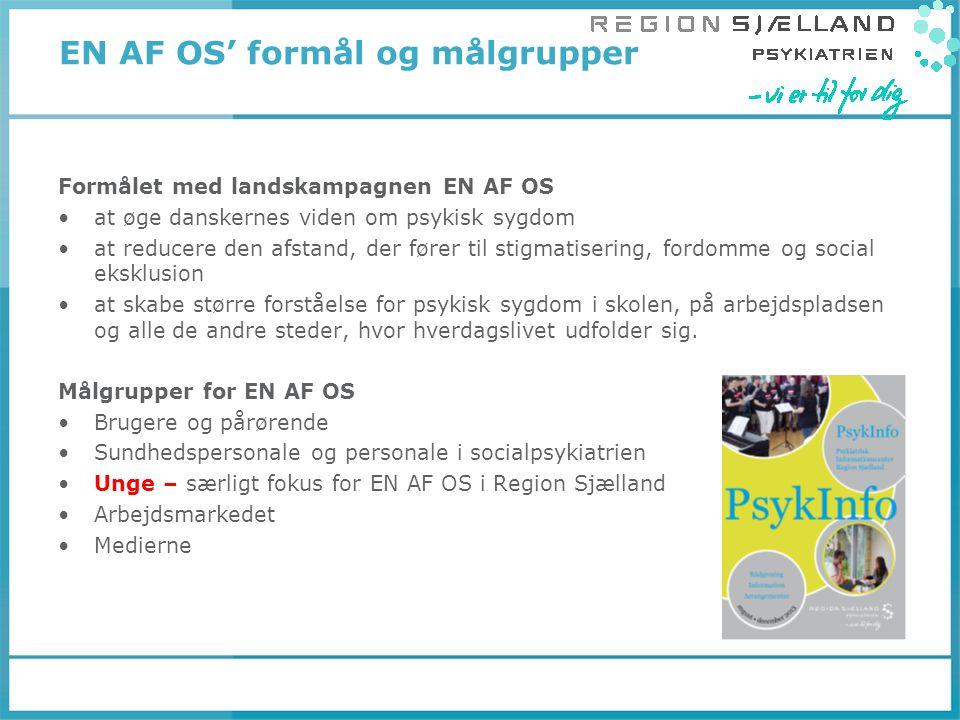 EN AF OS' formål og målgrupper