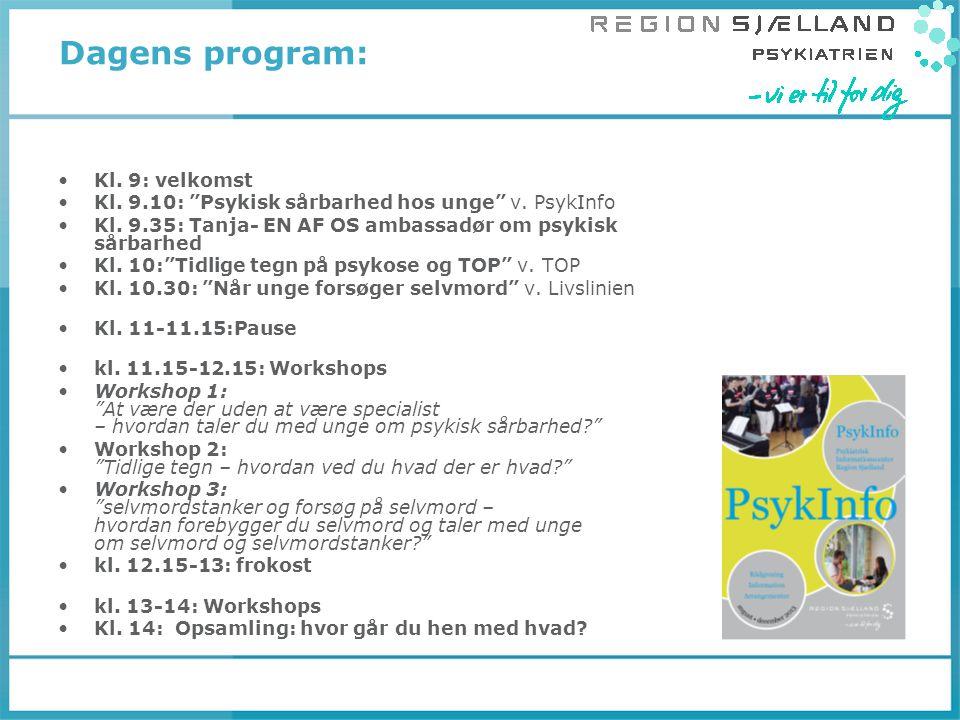 Dagens program: Kl. 9: velkomst