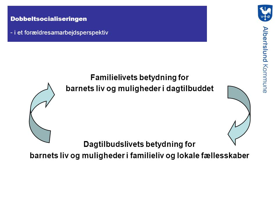 Familielivets betydning for barnets liv og muligheder i dagtilbuddet