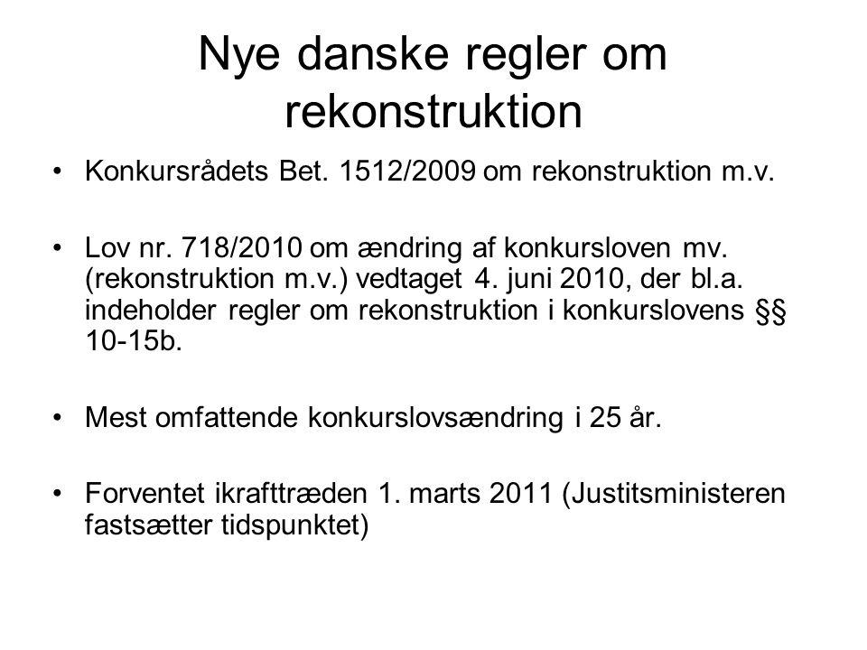 Nye danske regler om rekonstruktion