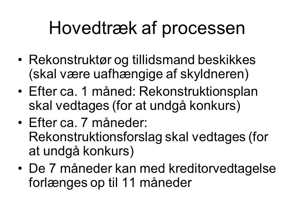 Hovedtræk af processen