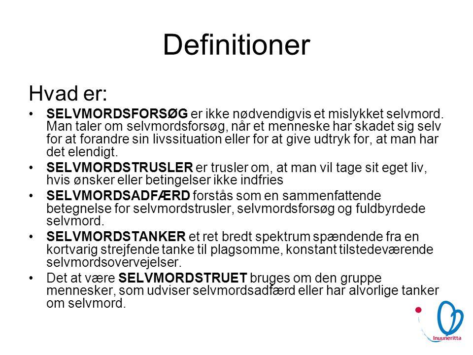 Definitioner Hvad er: