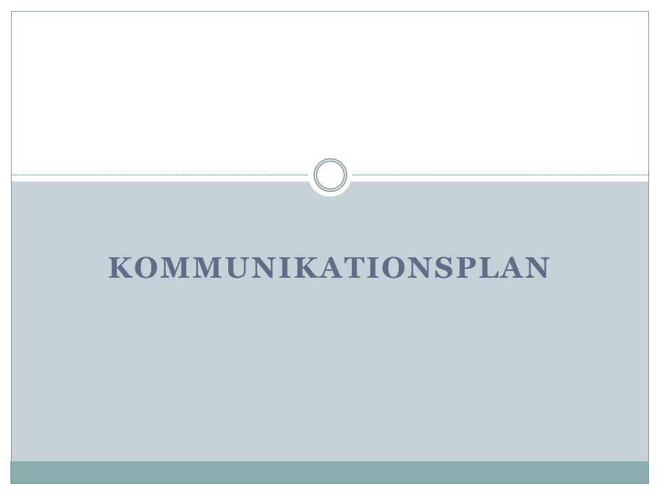 KOMMUNIKATIONSPLAN