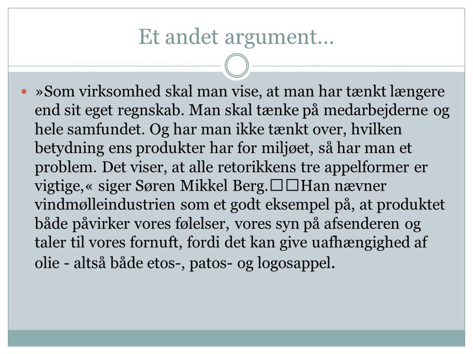 Et andet argument…