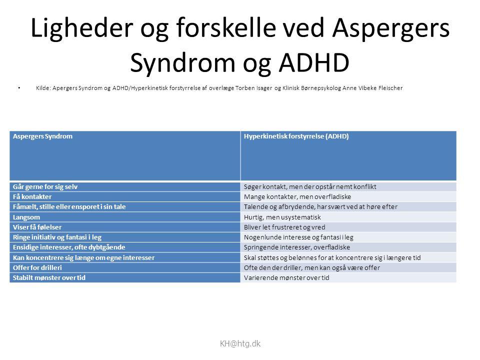 Ligheder og forskelle ved Aspergers Syndrom og ADHD