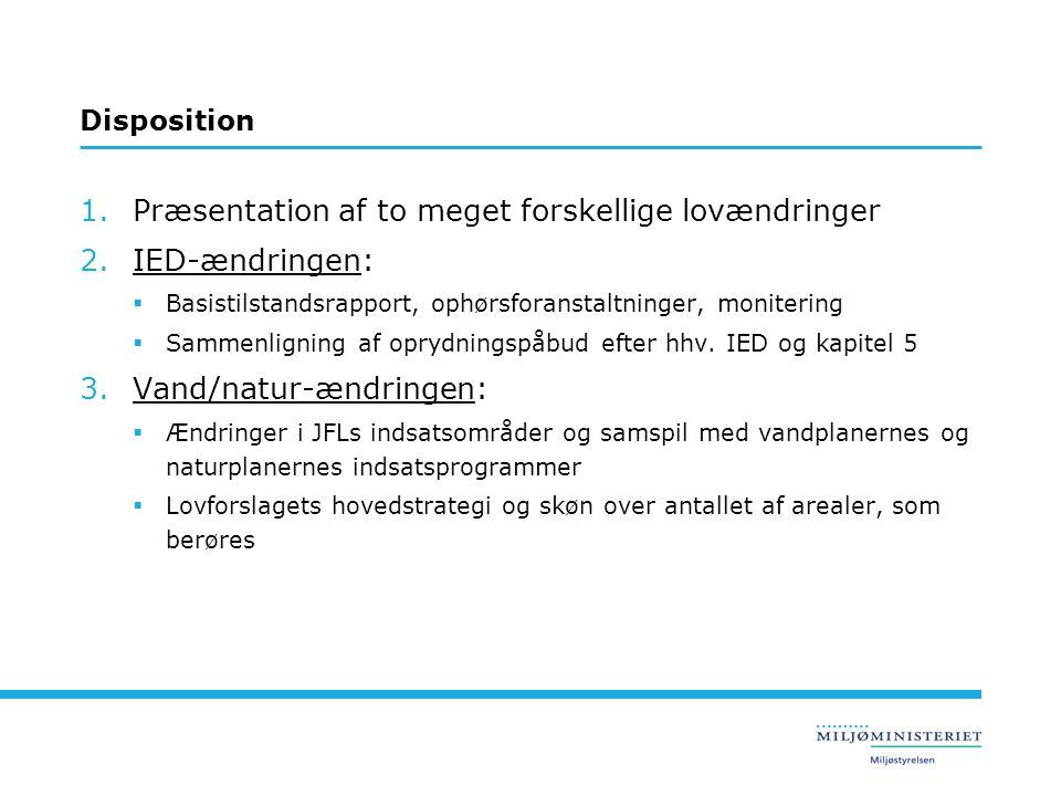 Præsentation af to meget forskellige lovændringer IED-ændringen:
