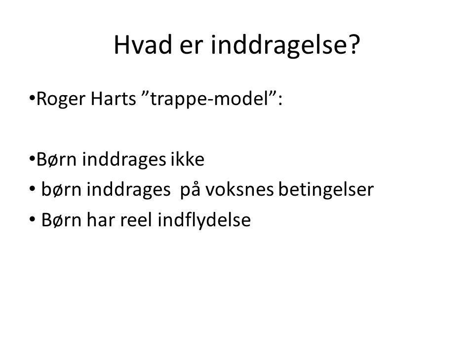 Hvad er inddragelse Roger Harts trappe-model : Børn inddrages ikke