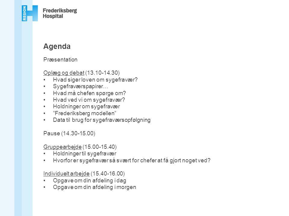 Agenda Præsentation Oplæg og debat (13.10-14.30)