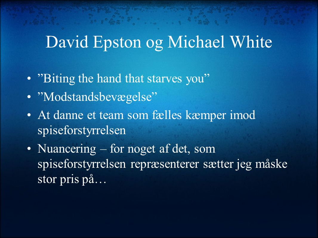 David Epston og Michael White
