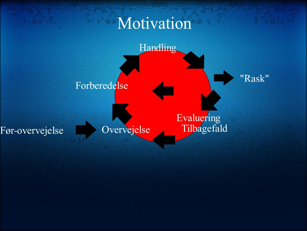 Motivation Handling Rask Forberedelse Evaluering Tilbagefald