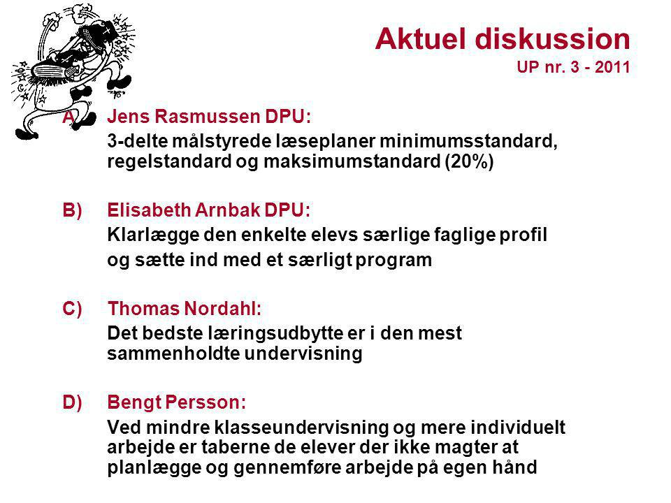 Aktuel diskussion UP nr. 3 - 2011