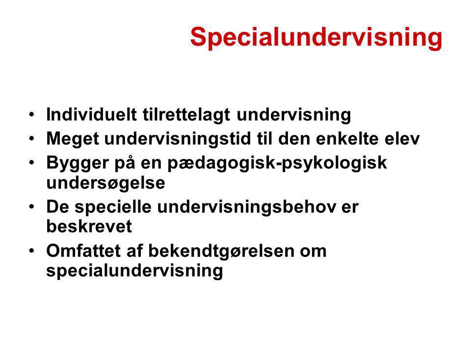 Specialundervisning Individuelt tilrettelagt undervisning