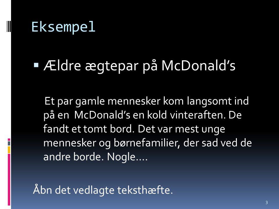 Ældre ægtepar på McDonald's