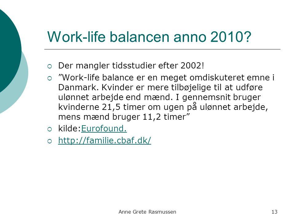 Work-life balancen anno 2010