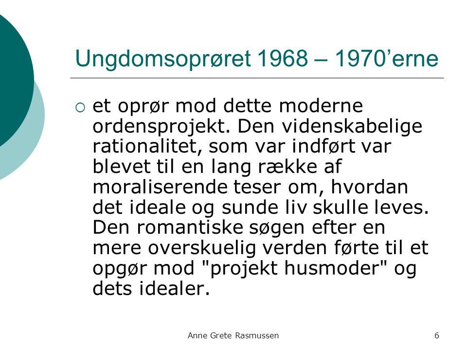 Ungdomsoprøret 1968 – 1970'erne