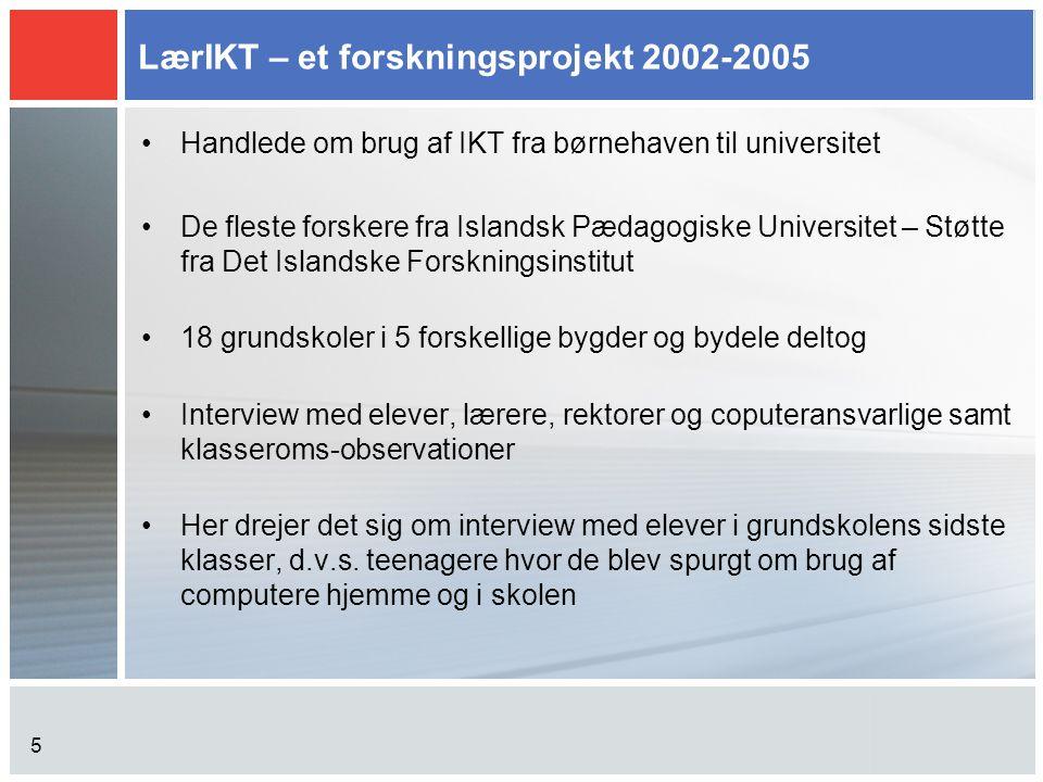 LærIKT – et forskningsprojekt 2002-2005
