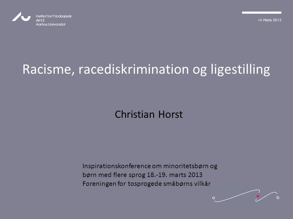 Racisme, racediskrimination og ligestilling