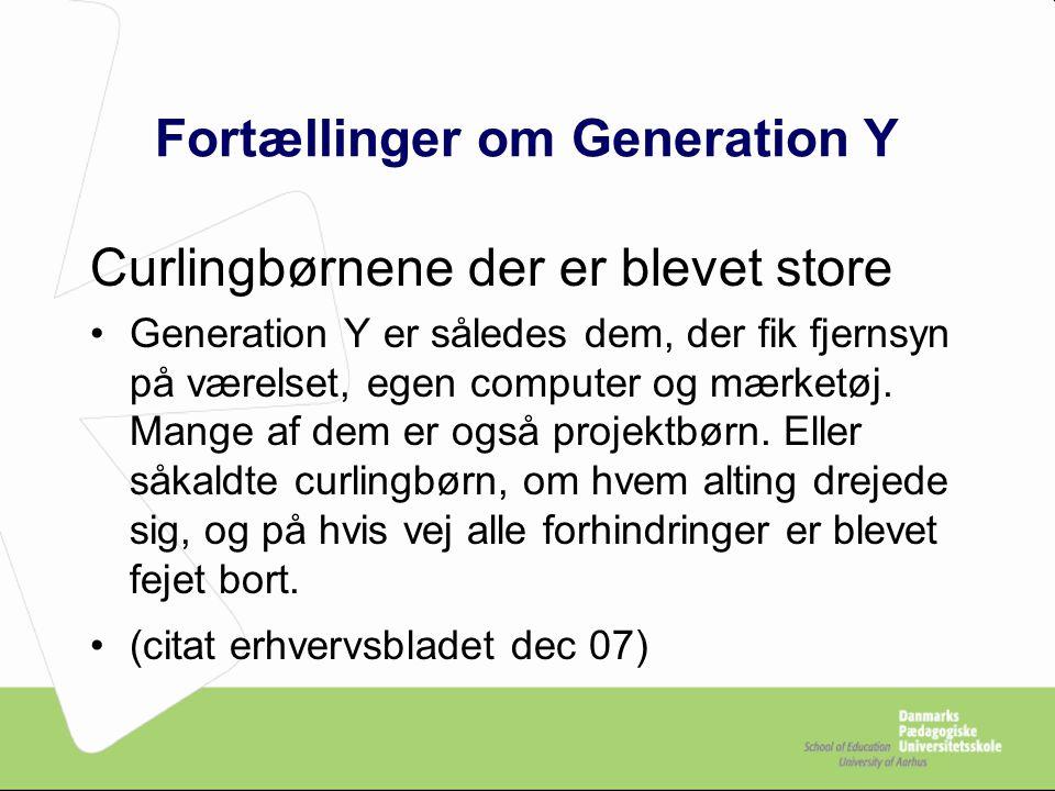 Fortællinger om Generation Y