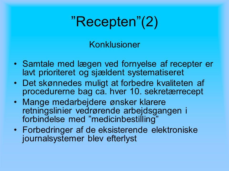 Recepten (2) Konklusioner