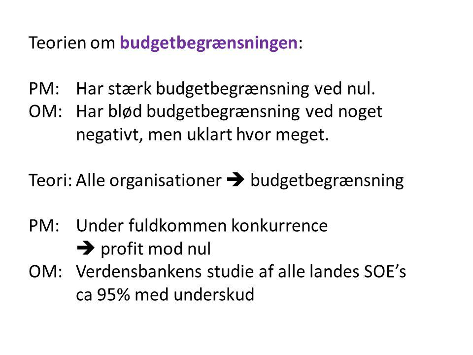 Teorien om budgetbegrænsningen: PM: