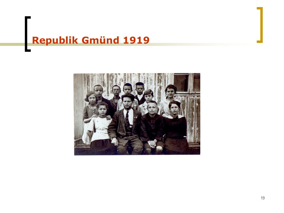 Republik Gmünd 1919