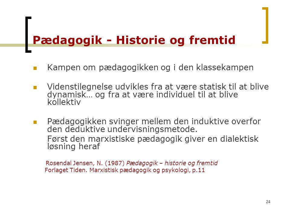 Pædagogik - Historie og fremtid