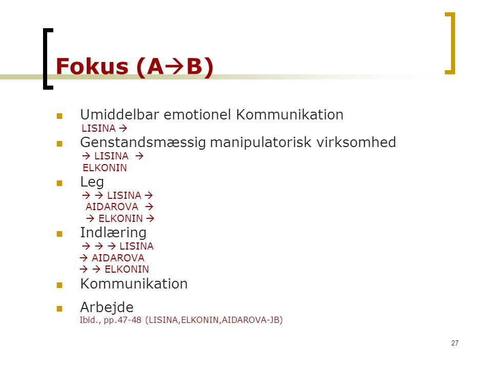 Fokus (AB) Umiddelbar emotionel Kommunikation