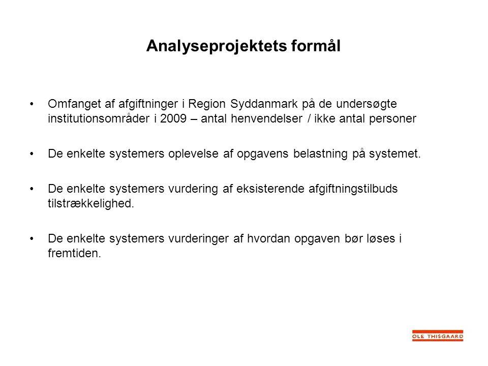 Analyseprojektets formål