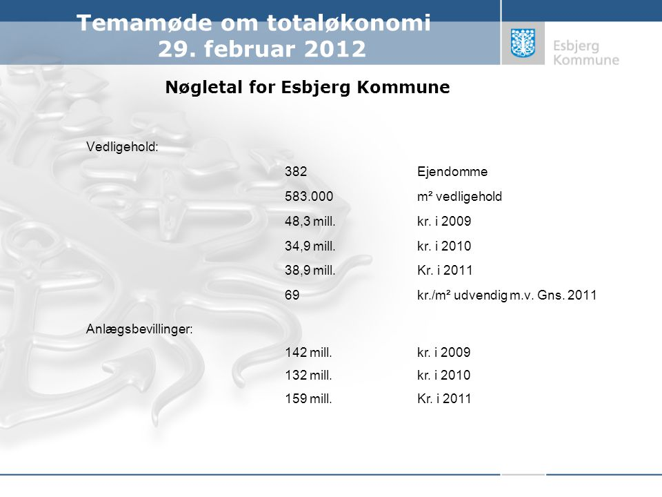 Nøgletal for Esbjerg Kommune