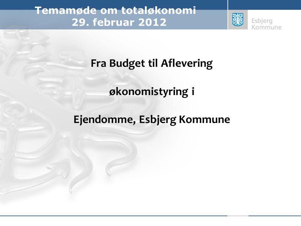 Fra Budget til Aflevering økonomistyring i Ejendomme, Esbjerg Kommune