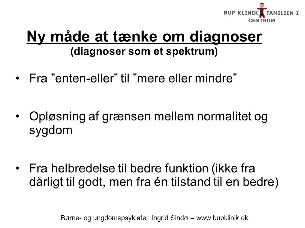Ny måde at tænke om diagnoser (diagnoser som et spektrum)