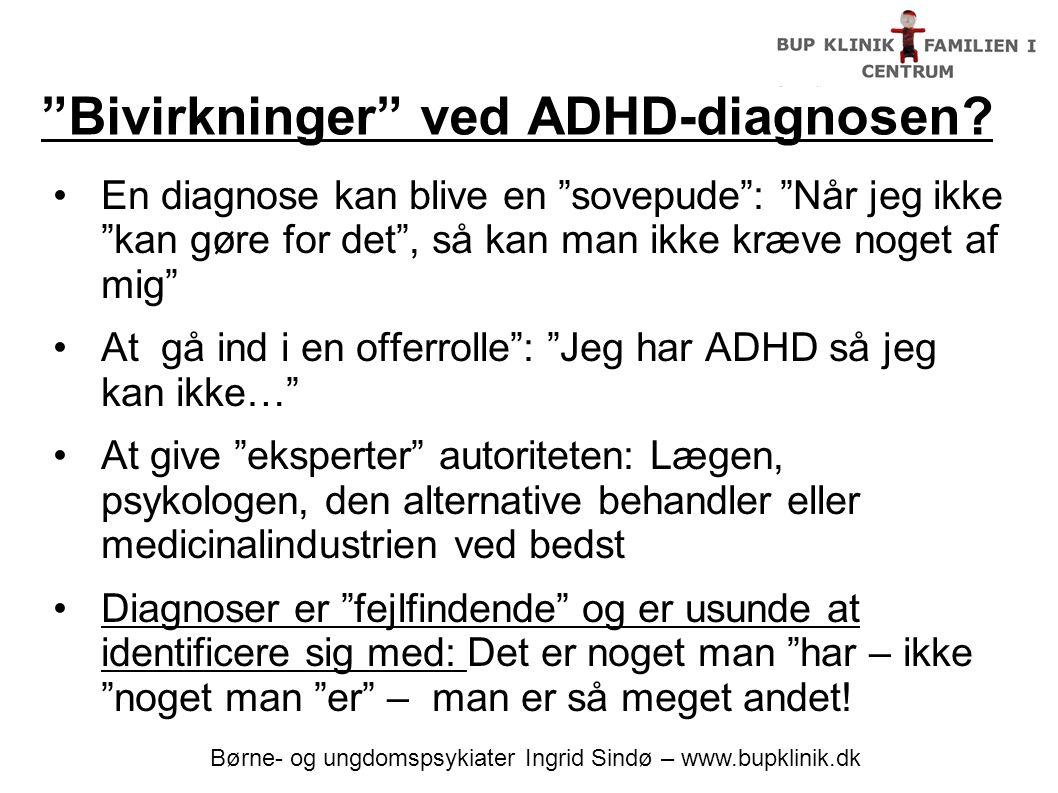 Bivirkninger ved ADHD-diagnosen