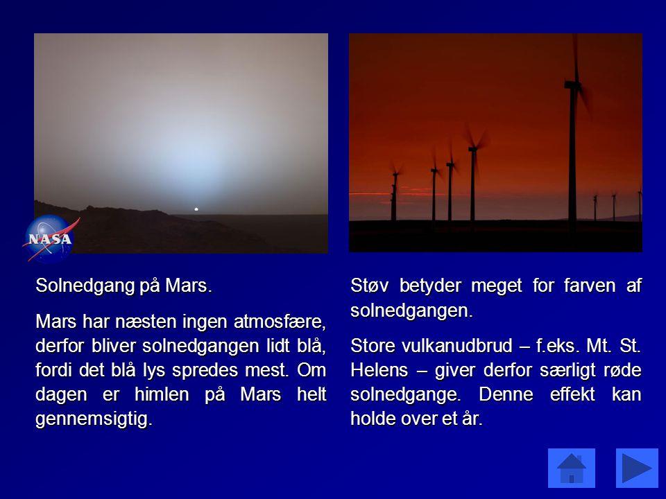 Solnedgang på Mars.