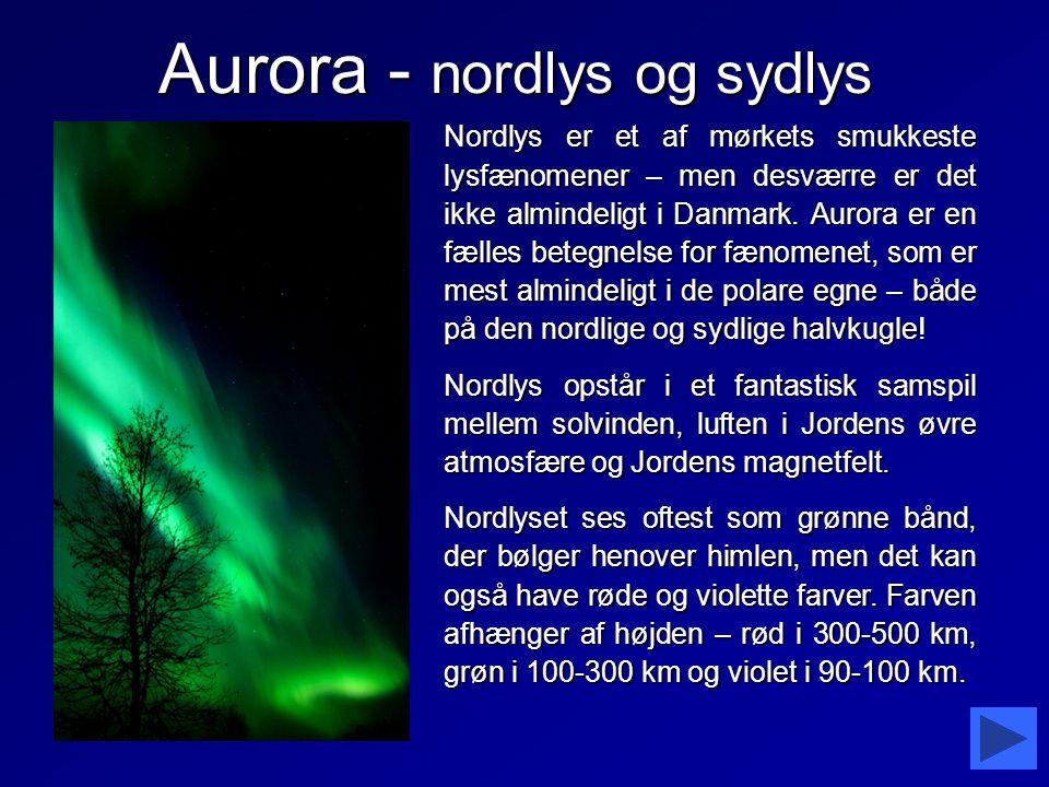 Aurora - nordlys og sydlys