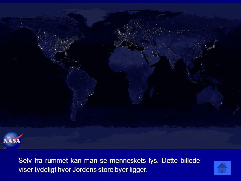 Selv fra rummet kan man se menneskets lys