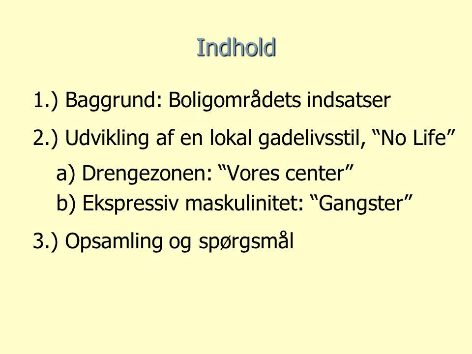 Indhold 1.) Baggrund: Boligområdets indsatser