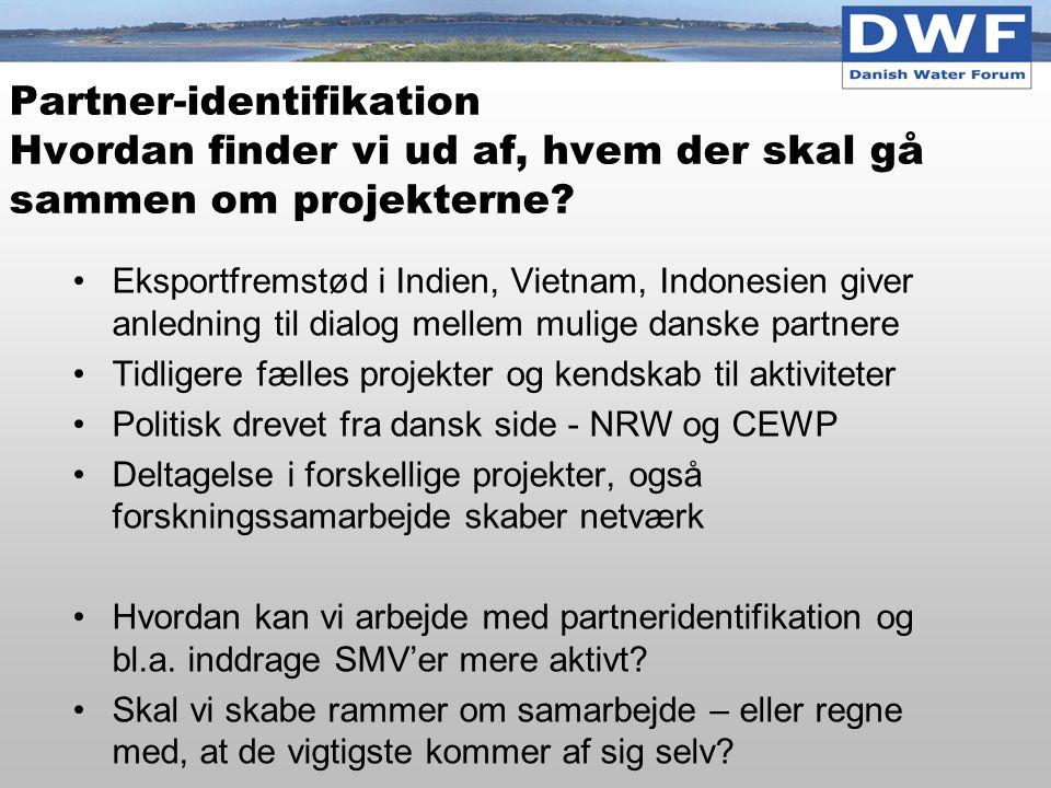 Partner-identifikation Hvordan finder vi ud af, hvem der skal gå sammen om projekterne