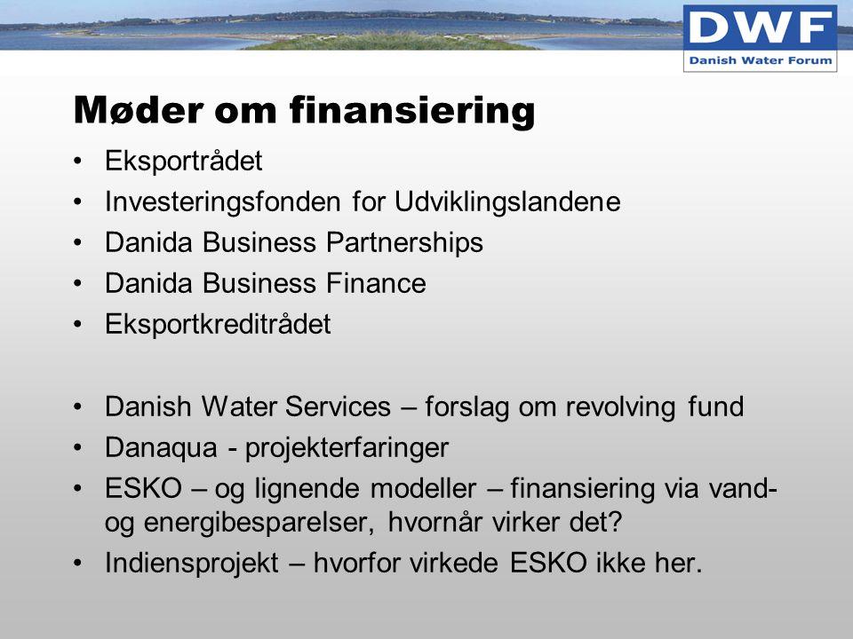 Møder om finansiering Eksportrådet