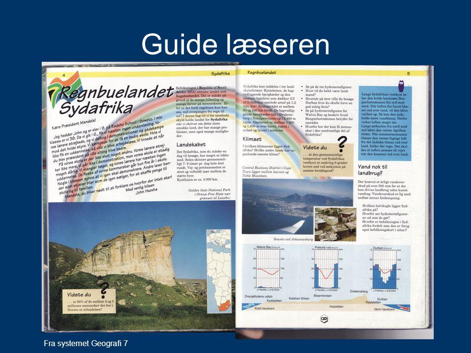 Guide læseren Fra systemet Geografi 7