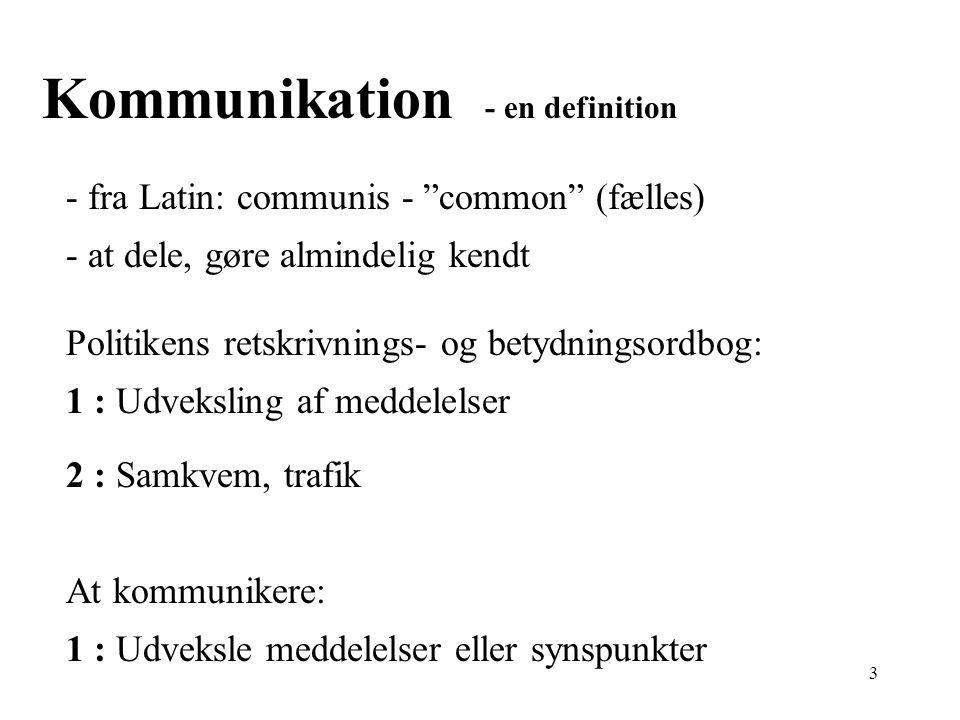 Kommunikation - en definition
