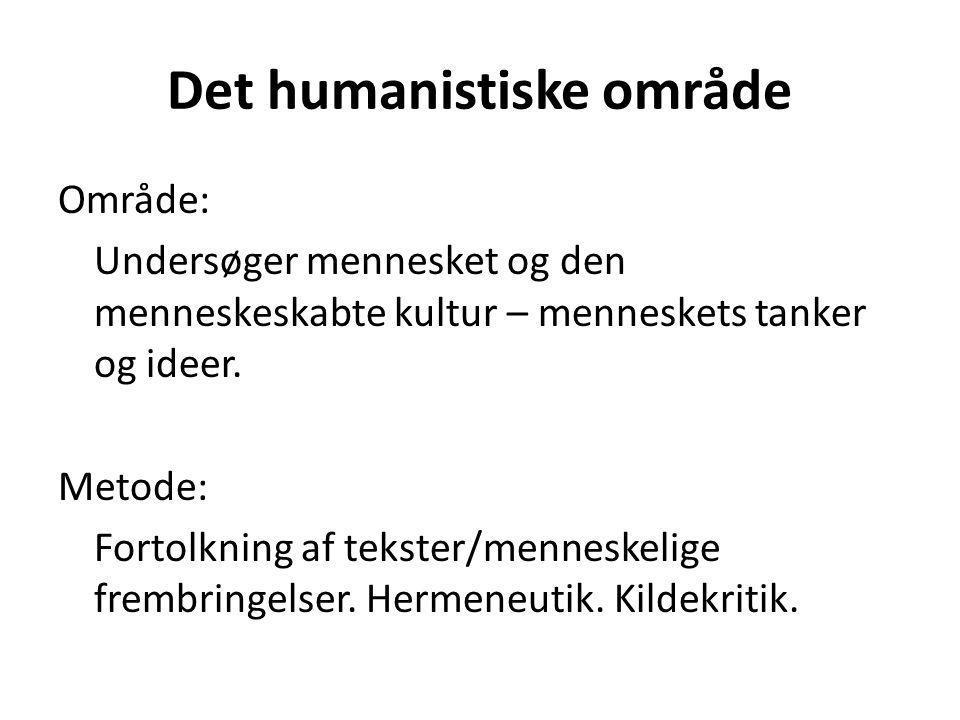 Det humanistiske område