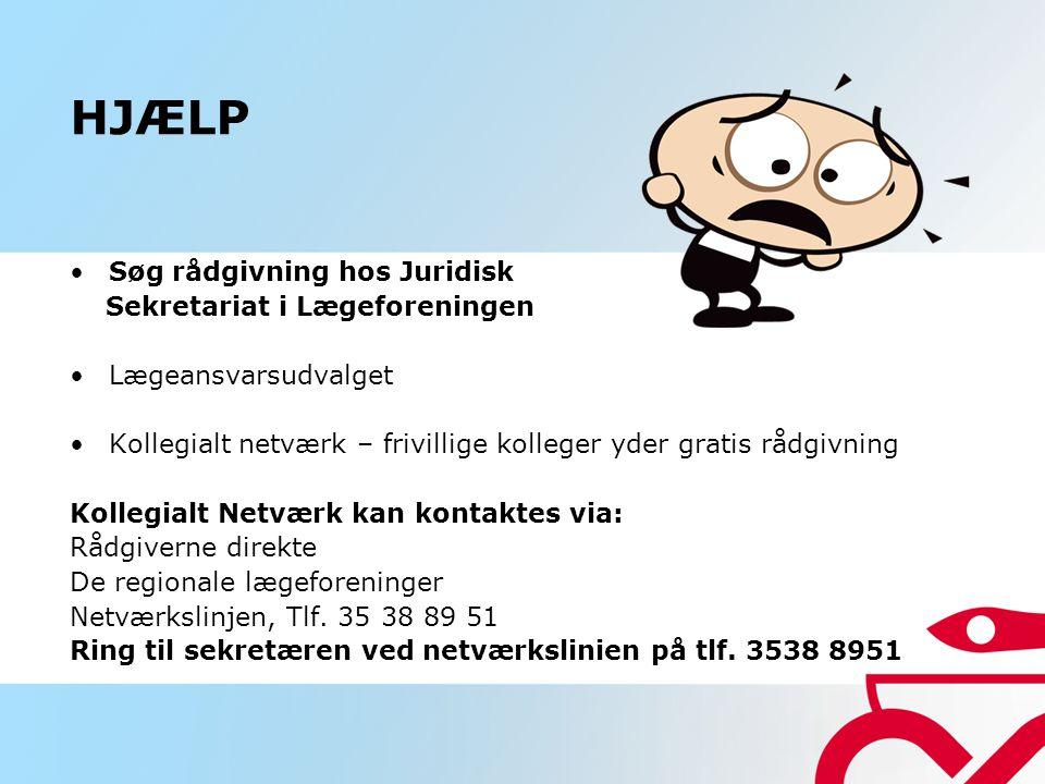 HJÆLP Søg rådgivning hos Juridisk Sekretariat i Lægeforeningen