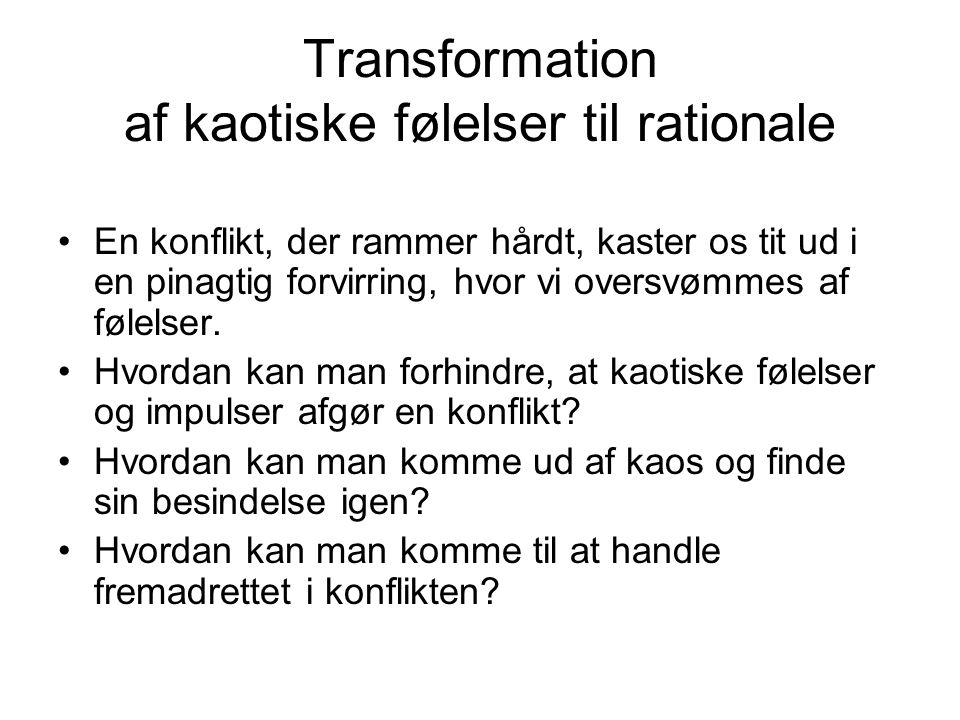 Transformation af kaotiske følelser til rationale