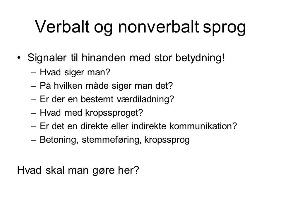 Verbalt og nonverbalt sprog