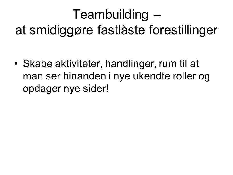 Teambuilding – at smidiggøre fastlåste forestillinger